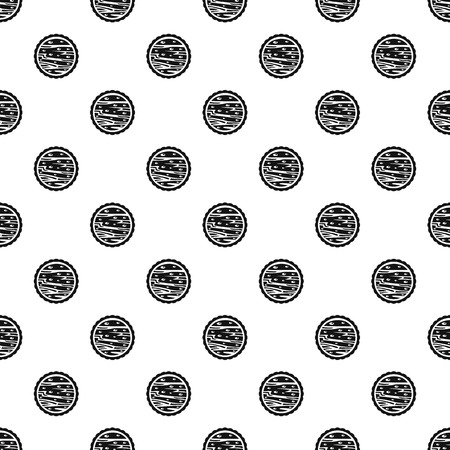 Nuts on cake pattern seamless vector
