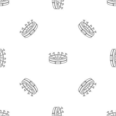 Baseball arena pattern seamless vector repeat geometric for any web design Illustration
