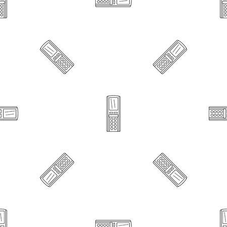 Conditionneur de télécommande vectoriel continu motif géométrique répéter pour toute conception de sites Web