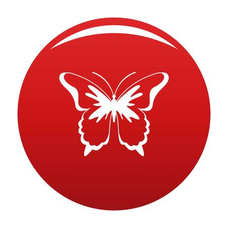 Insect butterfly icon vector red