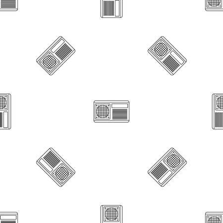 Ventilateur conditionneur vectoriel continu motif géométrique répéter pour tout web design