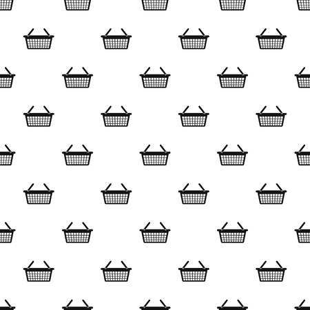 Clothes basket pattern seamless vector repeat geometric for any web design