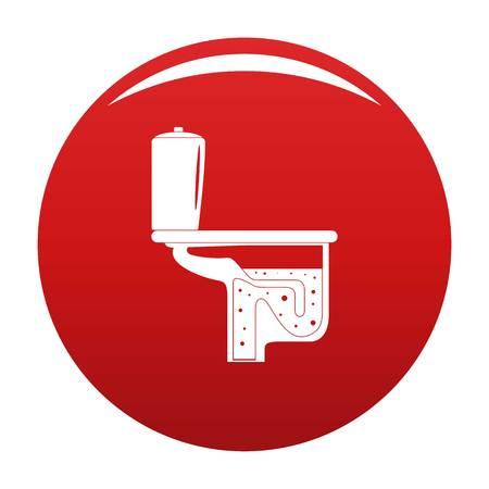 Toilet equipment icon vector red Illustration