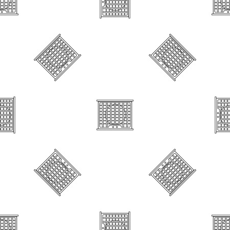 Air conditioner compressor pattern seamless vector repeat geometric for any web design