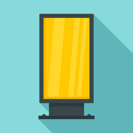 Street light box icon, flat style Illustration