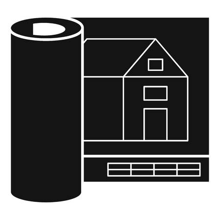Architect house project icon. Simple illustration of architect house project vector icon for web design isolated on white background