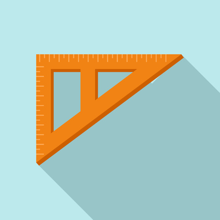 Angle ruler icon, flat style