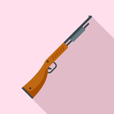 Police shotgun icon, flat style Illusztráció