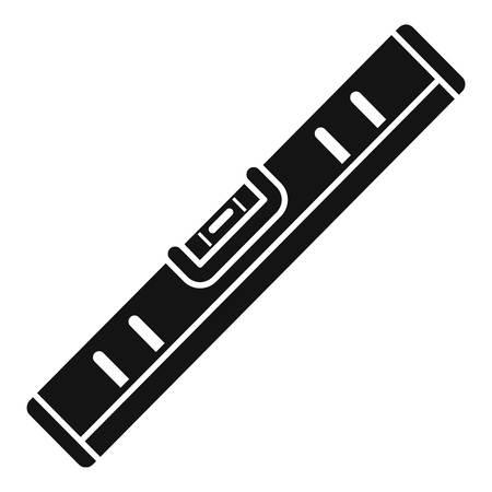 Wasserwaage Werkzeug Handwerk Symbol, einfacher Stil