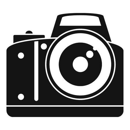 Professional camera icon, simple style Vectores