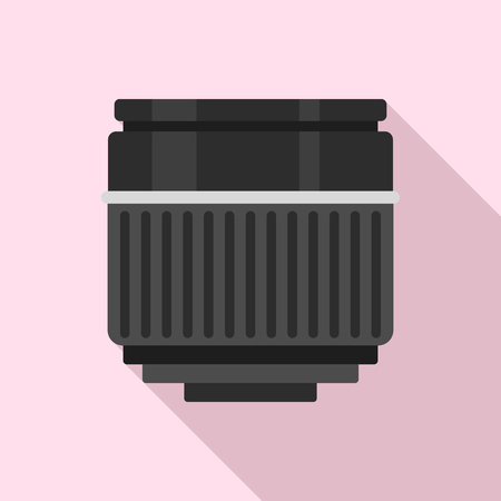 Macro lens icon. Flat illustration of macro lens vector icon for web design Vectores