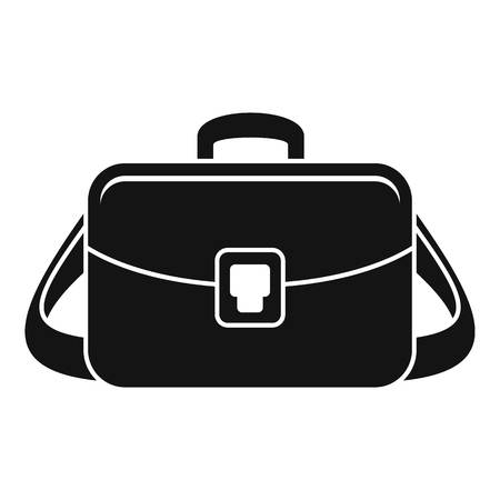 Camera bag icon. Simple illustration of camera bag vector icon for web design isolated on white background Vetores