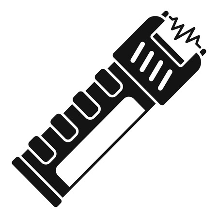 Police electric shocker icon. Simple illustration of police electric shocker vector icon for web design isolated on white background