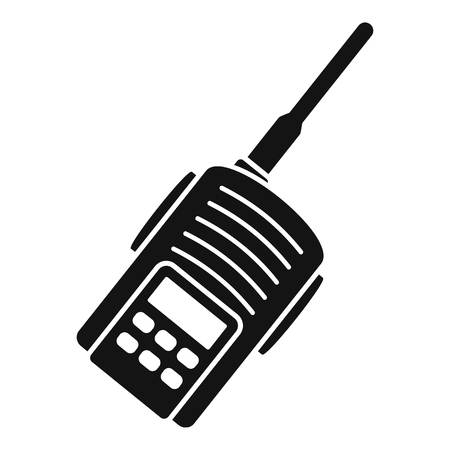 Police walkie talkie icon, simple style Illustration