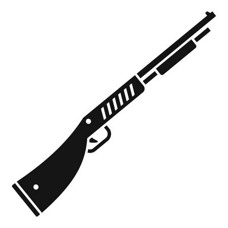 Police shotgun icon, simple style Иллюстрация