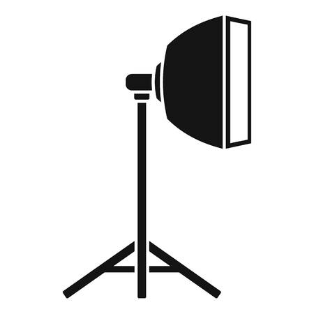 Studio light stand icon. Simple illustration of studio light stand vector icon for web design isolated on white background Illusztráció