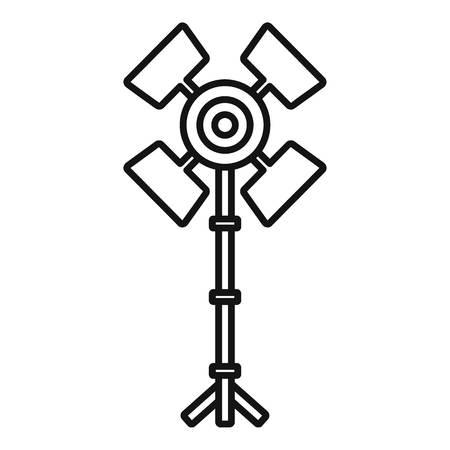 Professional studio light icon. Outline professional studio light vector icon for web design isolated on white background