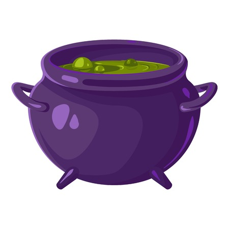 Pot of witch icon. Cartoon of pot of witch vector icon for web design isolated on white background