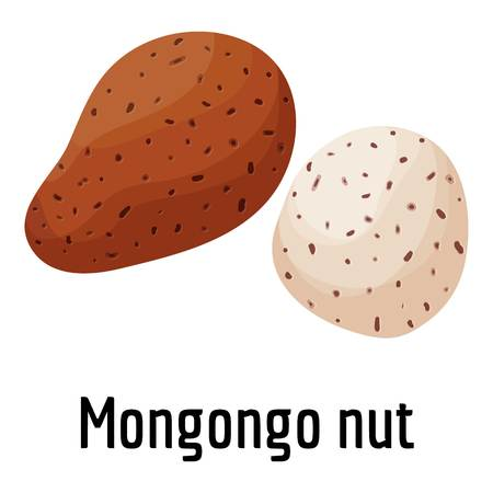Mongongo nut icon, cartoon style