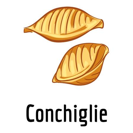 Conchiglie icon. Cartoon of conchiglie vector icon for web design isolated on white background Illustration