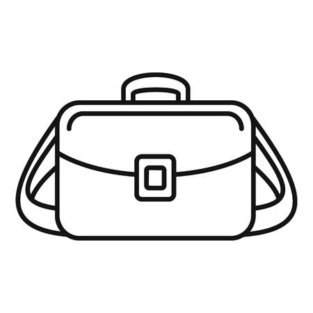 Camera bag icon. Outline camera bag vector icon for web design isolated on white background