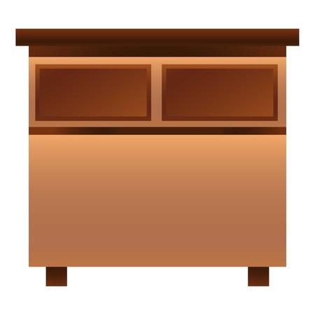 Nightstand icon, cartoon style