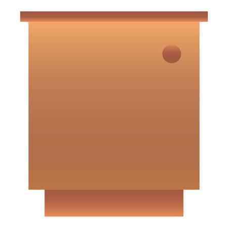 One door nightstand icon. Cartoon of one door nightstand vector icon for web design isolated on white background