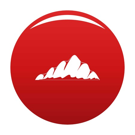 Mountain landscape icon vector red