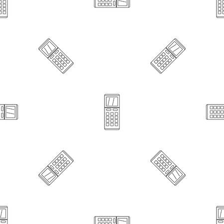 Remote control air conditioner pattern seamless vector