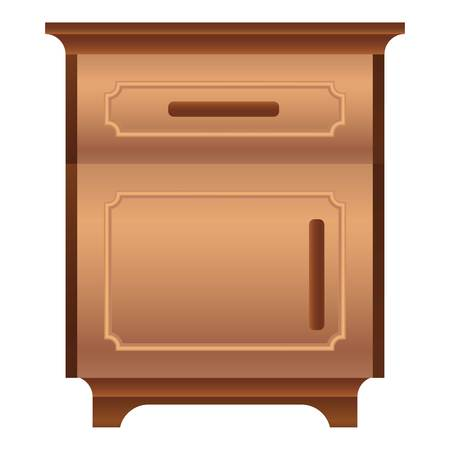 Family nightstand icon. Cartoon of family nightstand vector icon for web design isolated on white background Illustration