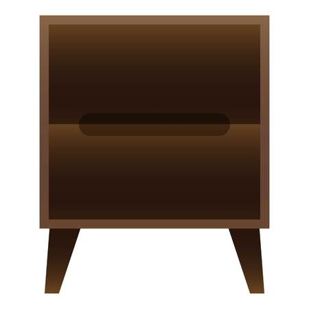 Bedroom nightstand icon. Cartoon of bedroom nightstand vector icon for web design isolated on white background Illustration