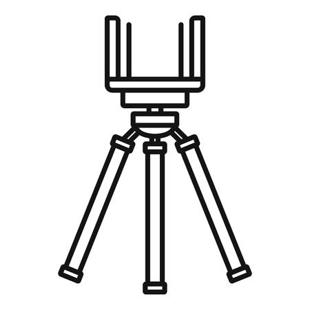 Smartphone tripod icon, outline style