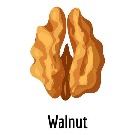 Walnut icon, cartoon style