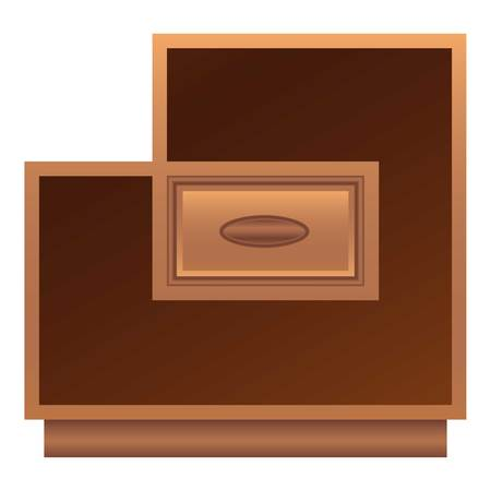 Modern nightstand icon. Cartoon of modern nightstand vector icon for web design isolated on white background