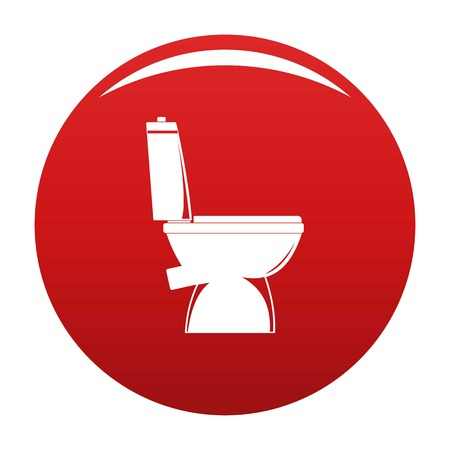 Home toilet icon vector red