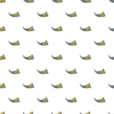 Corn trumpet song instrument icon. Flat illustration of corn trumpet song instrument vector icon for web design Illustration
