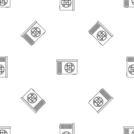 Outdoor air unit conditioner pattern seamless vector repeat geometric for any web design