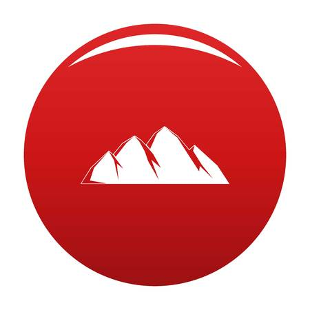 Large mountain icon vector red