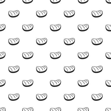 Cooked steak pattern seamless vector repeat geometric for any web design