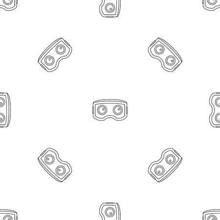 Vr glasses pattern seamless vector