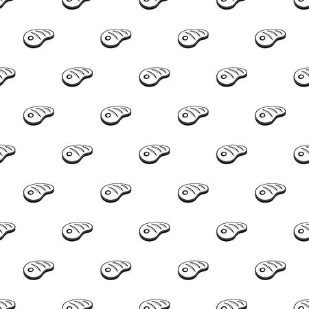 Dinner steak pattern seamless vector repeat geometric for any web design