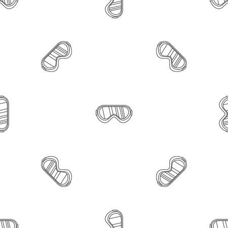 Protect goggles pattern seamless vector repeat geometric for any web design Ilustrace