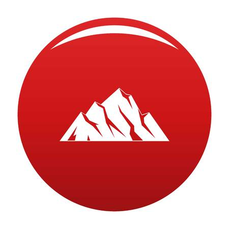 Extreme mountain icon vector red