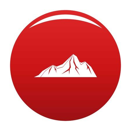 Tall mountain icon vector red Ilustração