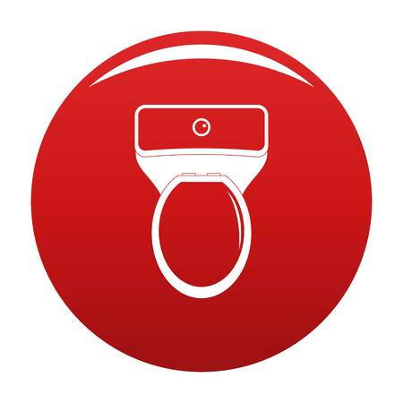 Lavatory icon vector red Stock Vector - 119108930