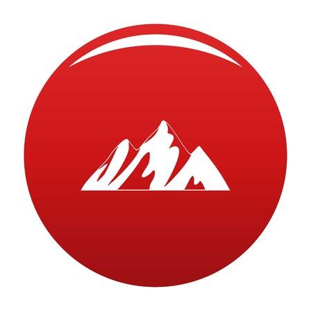 Top of mountain icon vector red Banco de Imagens - 119108932