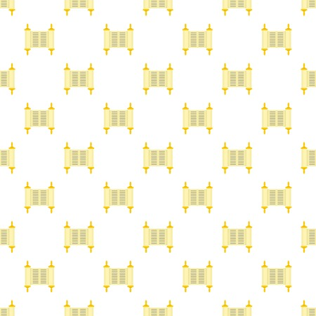 Old book rolled papyrus pattern seamless vector repeat for any web design Vettoriali