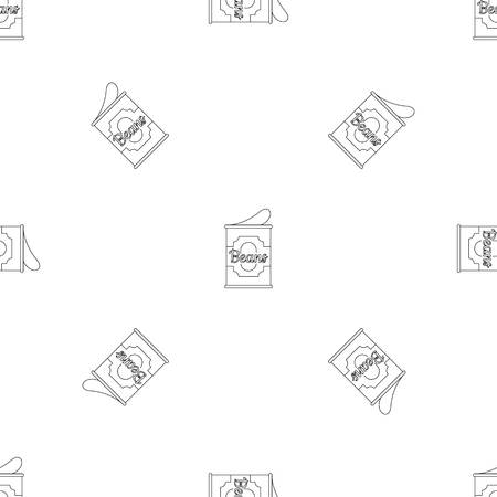 Beans tin can pattern seamless vector repeat geometric for any web design