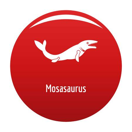 Mosasaurus icon vector red