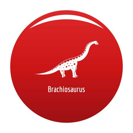 Brachiosaurus icon vector red 向量圖像